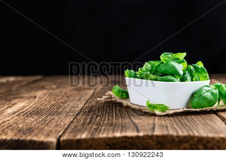 Heap Of Fresh Basil (selective Focus)
