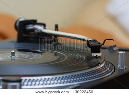 Turntable Music Vinyl Record Player, Needle In Focus