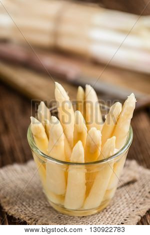 Some Fresh White Asparagus (selective Focus)