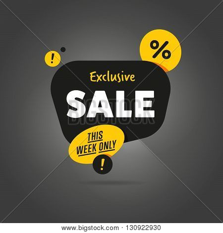 Sale vector banner. Promo offer. Sale sticker. Discount sticker. Special offer sale sticker in flat style. Discount tag. Special offer banner. Sale sign. Web sale sticker. Sale label. Ad sticker. Sale sticker template. Design of ad offer. Sale tag. Sale.