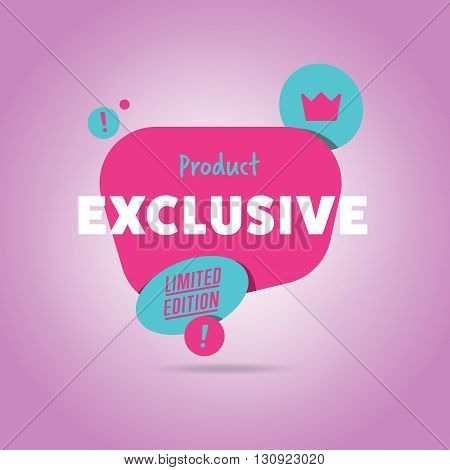 Limited special offer badge vector flat design style. Colorful abstract promo label or tag. Super sale.