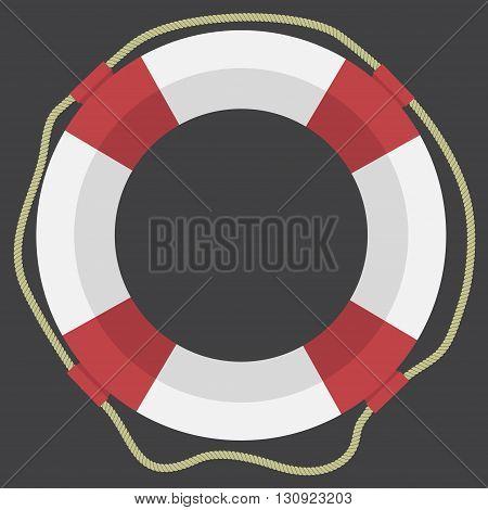 Vector lifebuoy web flat icon. Eps 10.