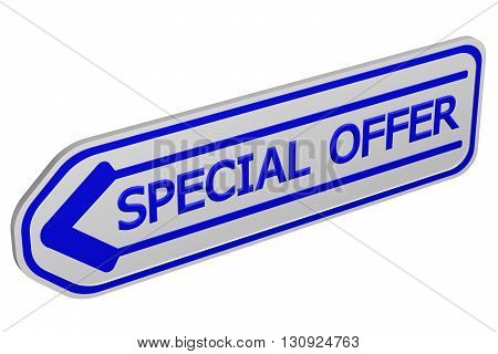 Special offer arrow isolated on white background. 3D rendering.