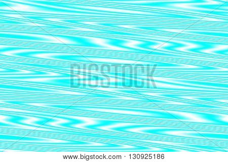 Illustration of white and cyan blue wooden structure