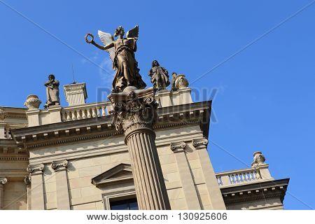 Detail of the State Opera in Prague