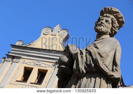 Statue of the Charles Bridge in Prague