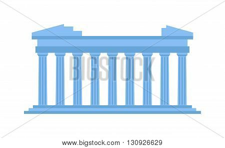Ancient theater in Acropolis Greece, ancient amphitheater vector illustration. Ruin arena coliseum archeology ancient amphitheater and historical stadium heritage colosseum ancient amphitheater.