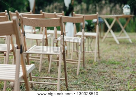 chair set for wedding or another event or visiting ceremony