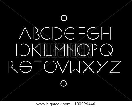 Simple and minimalistic font white color black background