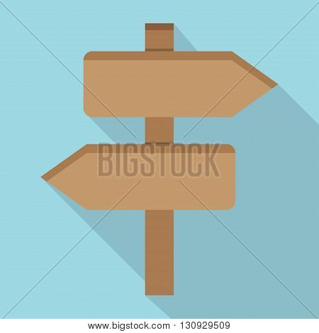 Wooden sign icon flat icon. vector illustration. Flat icon isolated with long shadow.