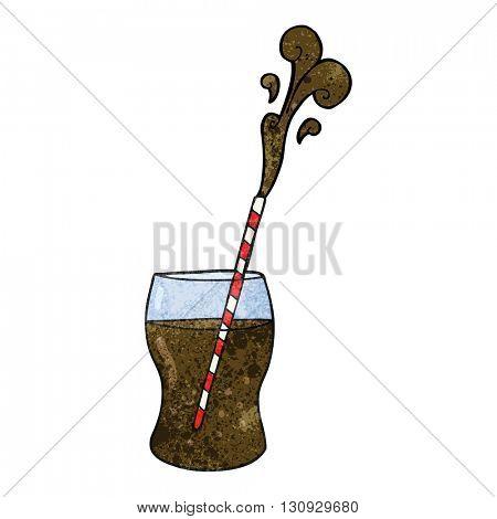 freehand textured cartoon fizzy drink