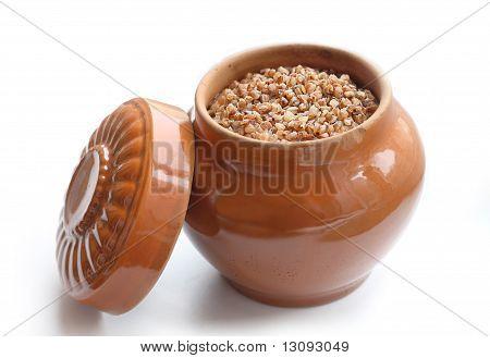 Pot With Buckwheat Porridge