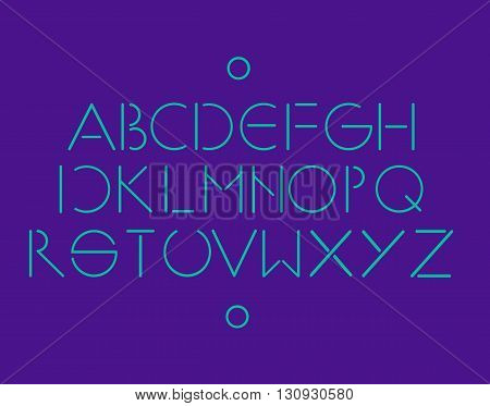 Simple and minimalistic font neon color vector