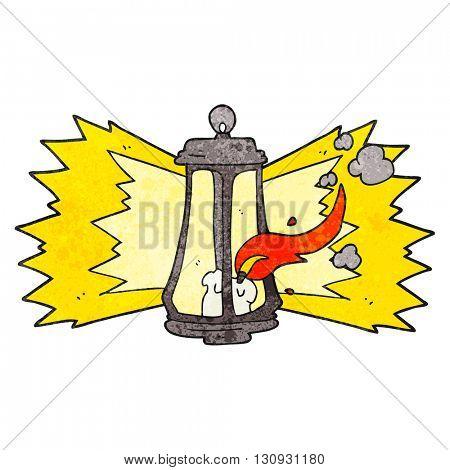 freehand textured cartoon spooky lantern