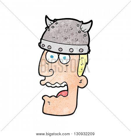 freehand textured cartoon screaming warrior man