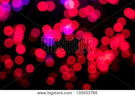 Bokeh from defocussed lighs from a fibre optic lamp