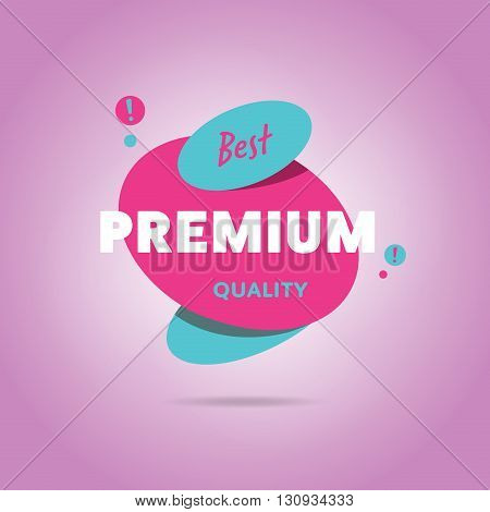 Premium quality banner. Sale sticker. Premium quality sticker. Promo offer. Premium quality badge. Special offer ad tag. Premium quality label. Vector icon of premium quality. Premium quality flat abstract isolated vector illustration. Design of ad offer.