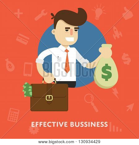Business success. Achieve results. Concept of success business. Making a profit . Fortune in business. Business growth. Make a deal. Business management concept. Success in business. Business idea, startup. Luck in business. Personal business. Businessman