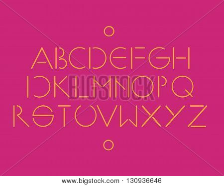 Simple and minimalistic font pink color vector