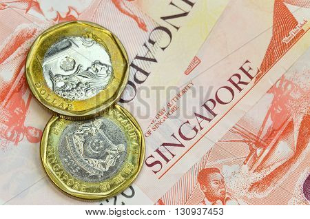 Singapore Money On White Background