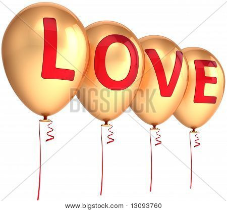 Glamour balloons of Love