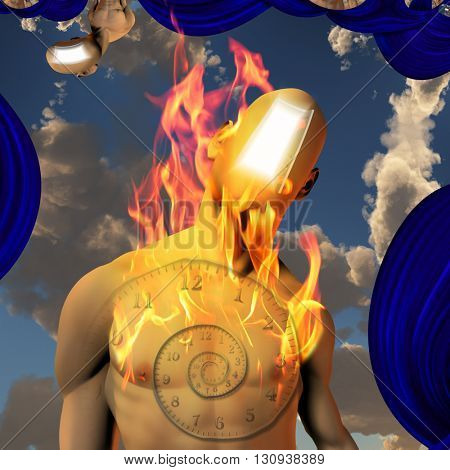 3D Render Burning Man