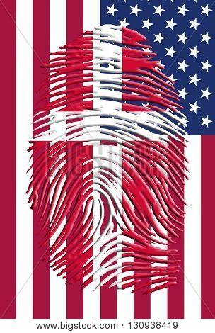 3D Render Danish American Identity