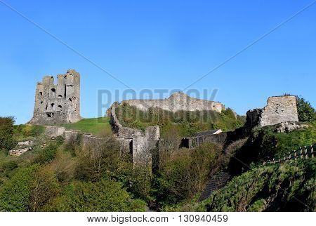 Scarborough Castle Norman Keep, North Yorkshire, England.