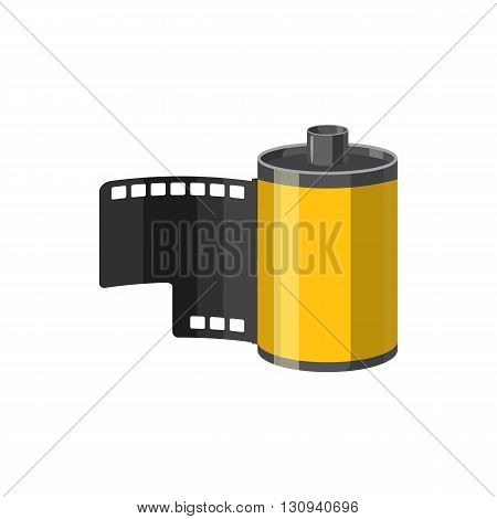 Photographic film icon in cartoon style isolated on white background. Components for photo shooting symbol