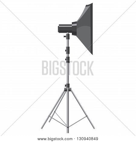 Spotlight for shooting icon in cartoon style isolated on white background. Components for photo shooting symbol