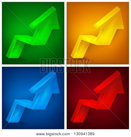 Arrow Up Signs On Color