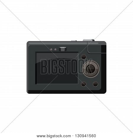 Camera display icon in cartoon style isolated on white background. Components for  photo shooting symbol