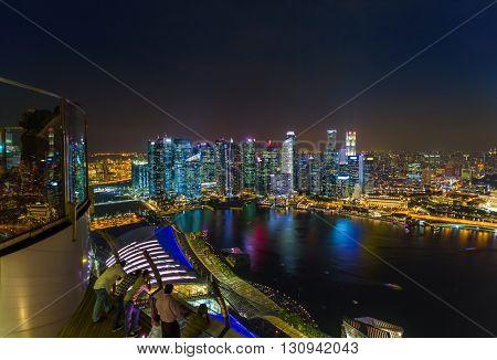 Singapore city skyline - architecture and travel background