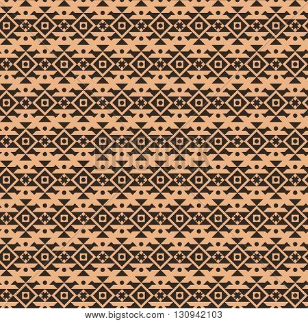 Geometric ethnic aztec mexican seamless pattern. Tribal ornament, boho chic texture
