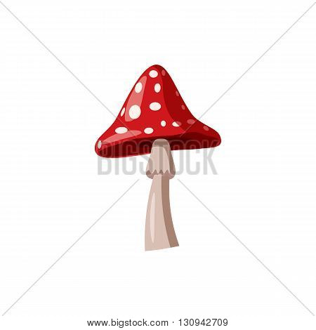 Agaric icon in cartoon style isolated on white background. Nature and flora  symbol