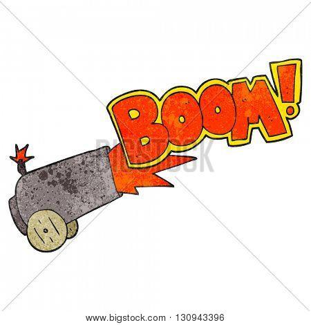 freehand textured cartoon cannon firing