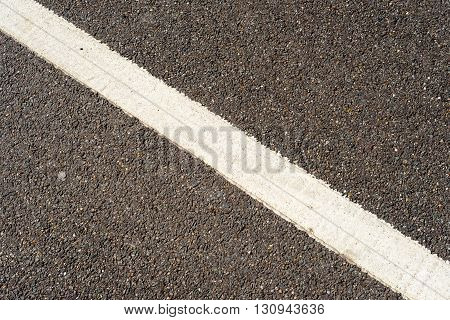 Single White Painted Road Marking