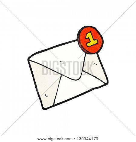 freehand textured cartoon email
