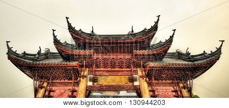 Gate of the Bao'en Temple in Suzhou - China