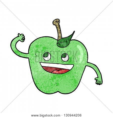 freehand textured cartoon apple