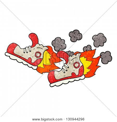 freehand textured cartoon super fast sneakers
