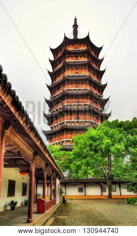 The Beisi Pagoda at Bao'en Temple in Suzhou, Jiangsu Province, China