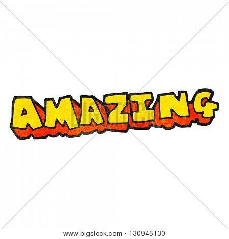 freehand textured cartoon amazing word