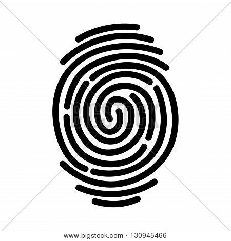 Fingerprint icon isolated on white background. Vector illustration