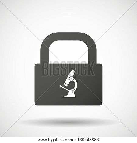Isolated Lock Pad Icon With  A Microscope Icon