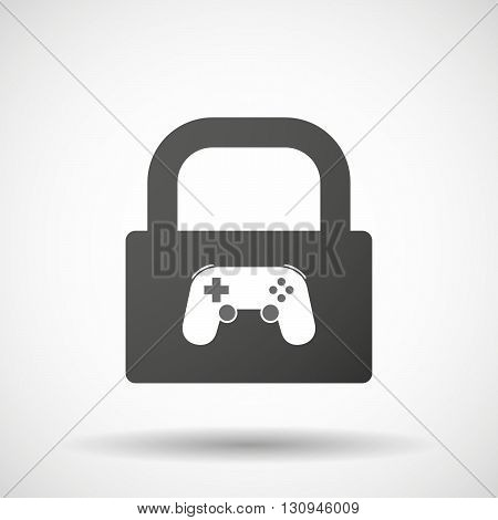 Isolated Lock Pad Icon With  A Game Pad