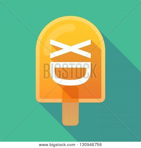 Long Shadow Ice Cream Icon With  A Xxx Letter Icon