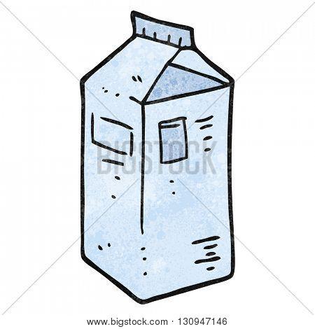 freehand textured cartoon milk carton