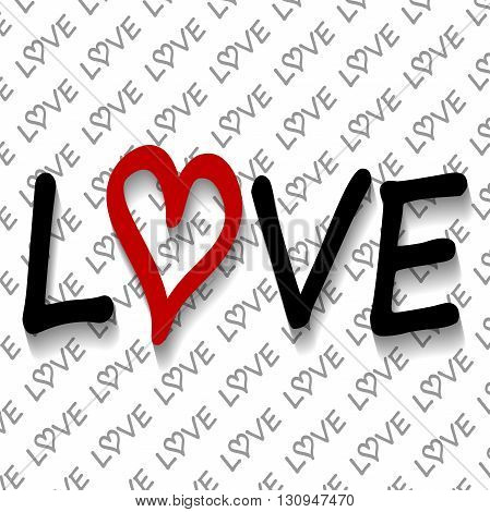 Illustration love background as a symbol of love.