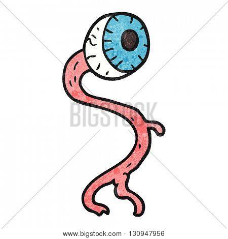 gross freehand textured cartoon eyeball